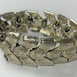 Vintage Gold Tone Coro Bracelet with Safety Chain